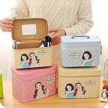 韓國可愛大容量收納包防水手提化妝箱