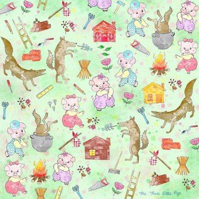 日本Pikka Pikka世界最細纖維毛孔潔淨布 A51/童話故事款_三隻小豬/氣質名媛/人氣部落客分享