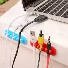 電線收納架整理器自粘固定夾數據線理線器...