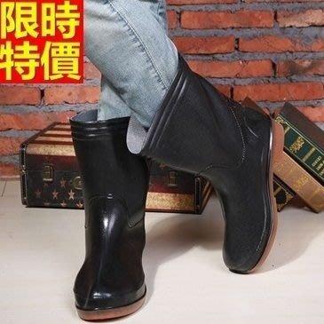 中筒雨靴 雨具-時尚純色可拆卸棉套休閒男雨鞋67a50[獨家進口][米蘭精品]