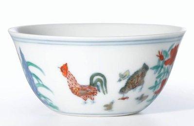 成化鬪彩鸡缸杯.歡迎委託競標2014/4/8.香港蘇富比拍賣會