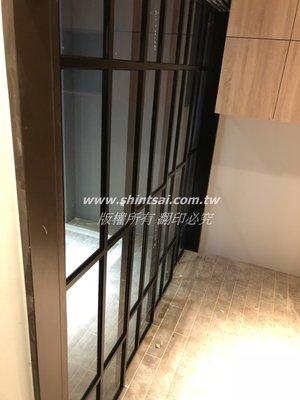 shintsai玻璃工程 細鋁框拉門 鋁框推拉門 廚房隔間門 玻璃拉門 懸吊式玻璃拉門 隔間