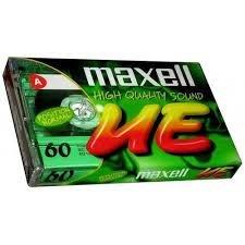 【阿嚕咪電器行】maxell UE-60分鐘空白錄音帶 一盒十片