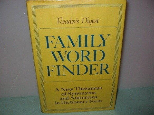 二姑書坊:  Readers Digest~~Family Word Finder 共二本