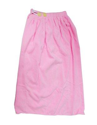 特價浴裙!! 超細纖維 素面 素色 桃粉色 浴裙 沙龍 SPA  M-026