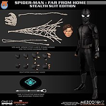 Mezco Spiderman : Far From Home Stealth Suit Night Monkey 蜘蛛俠 夜候