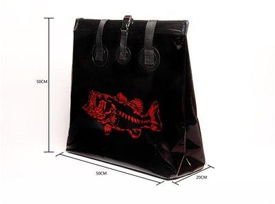 @大白鯊漁具店KEEP CASTING 防水單肩 釣魚路亞包 漁具 服裝收納袋