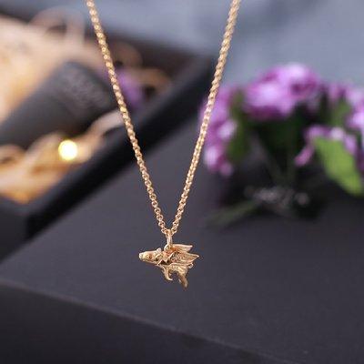 項鏈英國Lily Charmed設計師立體飛天小豬S925純銀鍍金可愛生肖鎖骨鏈(規格不同價格不同)