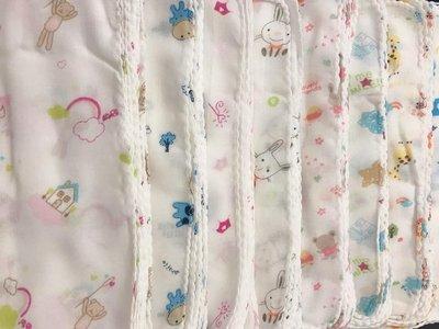 包邊加厚款-高密度紗布巾小手帕 兒童雙層紗布巾雙層口水巾 嬰兒純棉餵奶巾 全棉口水巾 紗布巾