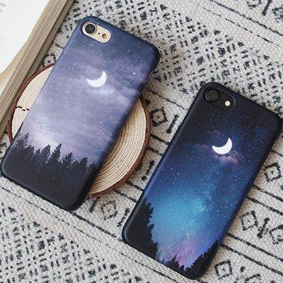 韓國 夜晚星空 硬殼 手機殼│iPhone 5S SE 6 6S 7 8 Plus X XS MAX XR│z8076