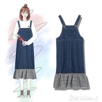 ZIHOPE 小清新學生寬鬆背帶連身裙女2019春夏裝新款韓版中長款森女系裙子ZI812