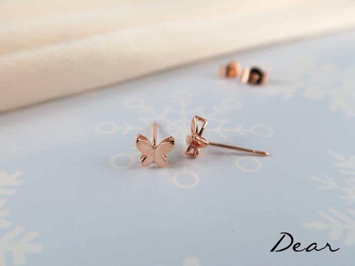 ◎【 Dear Jewelry 】◎ 立體蝴蝶玫瑰K金耳環 有氣質 生日禮物、送情人-------免運