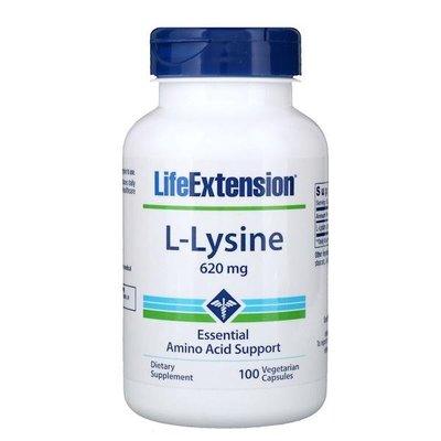 美國Life Extension,離胺酸(L-Lysine),620mg,100粒素食(頂級品牌,非基改)*百合麻雀*