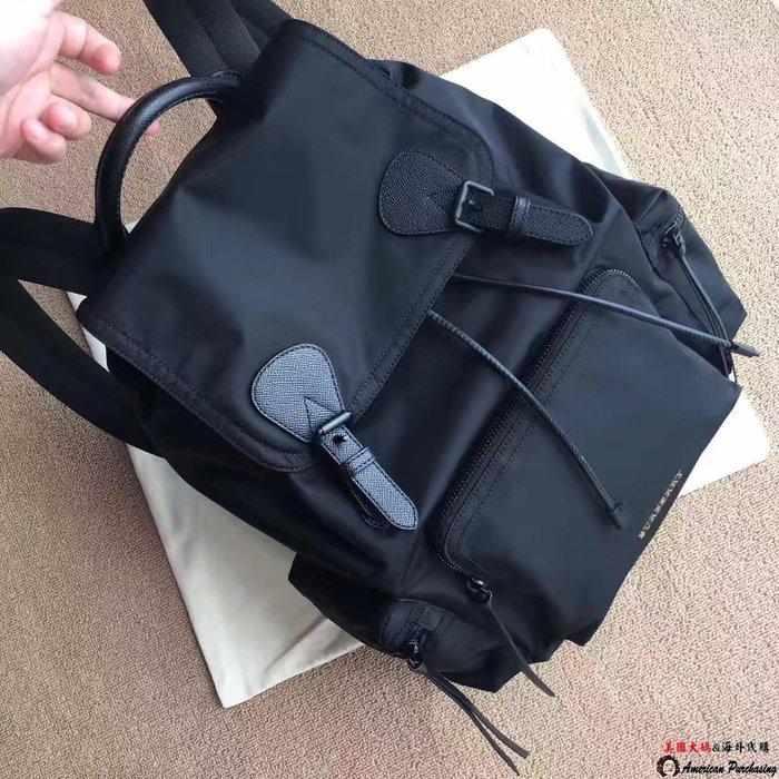 美國大媽代購 Burberry 巴寶莉 男款軍旅大容量雙肩包 通勤後背包 英倫時尚 美國outlet代購