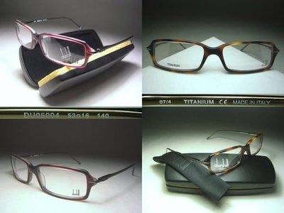 信義計劃 dunhill 眼鏡 prescription frame eyeglasses 義大利製 彈簧方框膠 鈦金屬