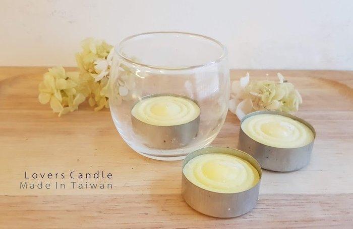 香茅驅蚊鐵殼蠟燭*1+小圓玻璃燭杯*1 (無毒、低溫安全、燃燒時間長)