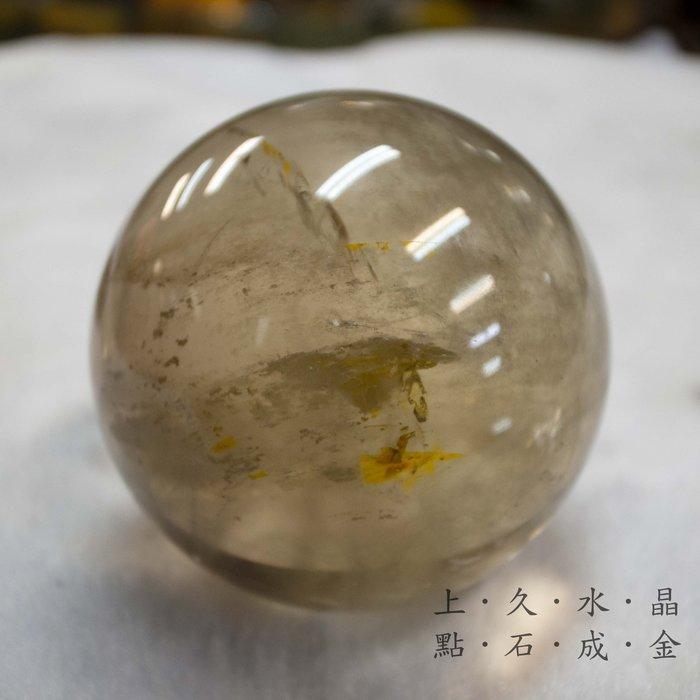 『上久水晶』___天然頂級巴西黃水晶球__360g___聚財、偏財運__搶手貨系列