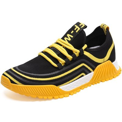 AAA2019夏季新款透氣運動鞋男高彈飛織跑步鞋男士百搭休閑鞋AAA