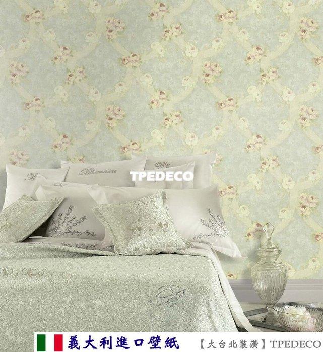 【大台北裝潢】義大利進口壁紙BM* 精緻花朵(6色) 每支4500元(兩坪裝)