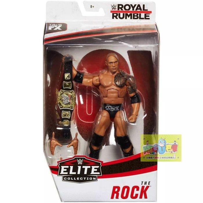 ☆阿Su倉庫☆WWE The Rock Royal Rumble Elite Figure 巨石強森皇家大賽精華版人偶