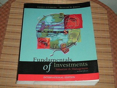 Fundamentals of Investments Valuation & Management second edition 0071123148