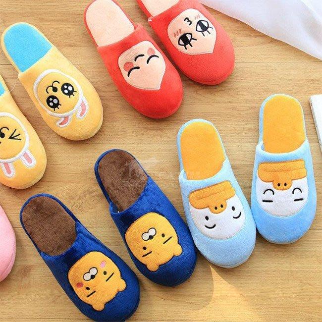 【FAT CAT HOUSE胖貓屋】韓國kakao friends萊恩Ryan同款絨毛居家拖鞋 地板鞋 保暖室內拖鞋