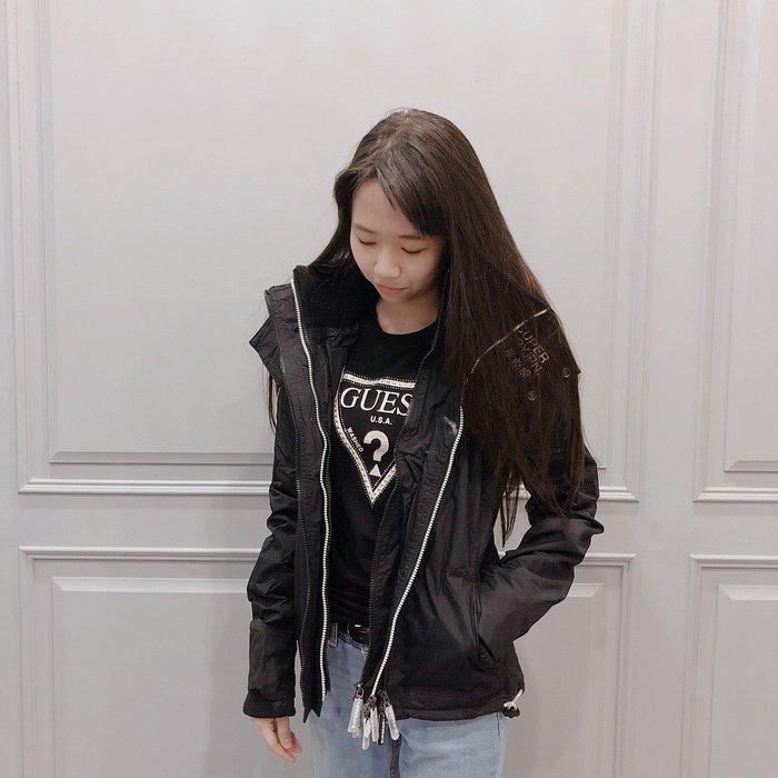 【現貨】 SUPERDRY極度乾燥 女生防風刷毛三拉風衣外套 黑色 保證正品 歡迎來店參觀選購