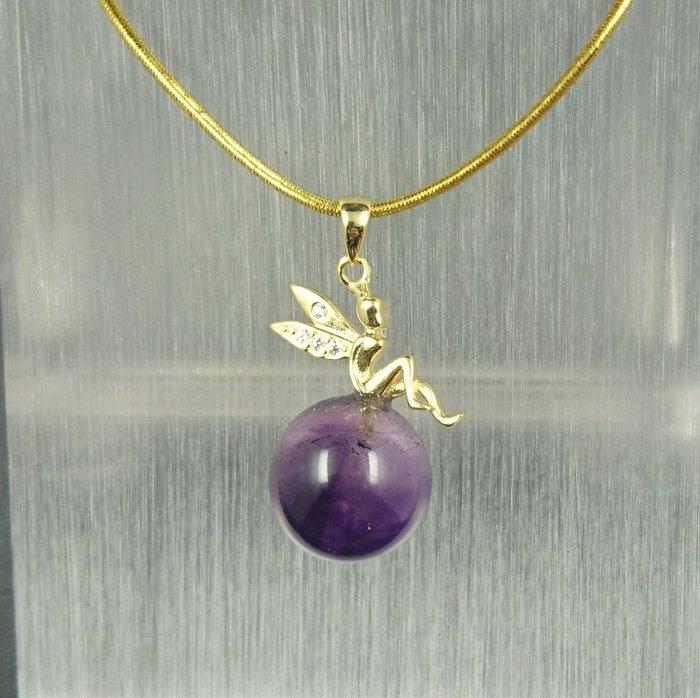 ~水晶花園~  超七紫水晶(不含鍊子)(純銀)