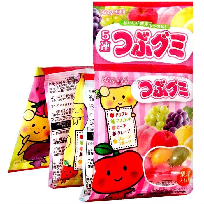 +東瀛go+ 春日井 KASUGAI 5連雷根糖 五連雷根軟糖 水果軟糖 日本進口 日本糖果 果汁軟糖 雷根糖