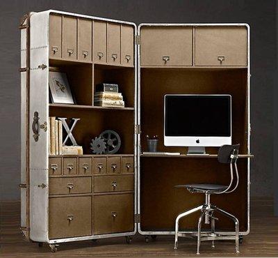 【台大復古家居】復古行李箱 鋁皮辦公桌 Richards' Trunk Secretary Table【客製化尺寸】RH
