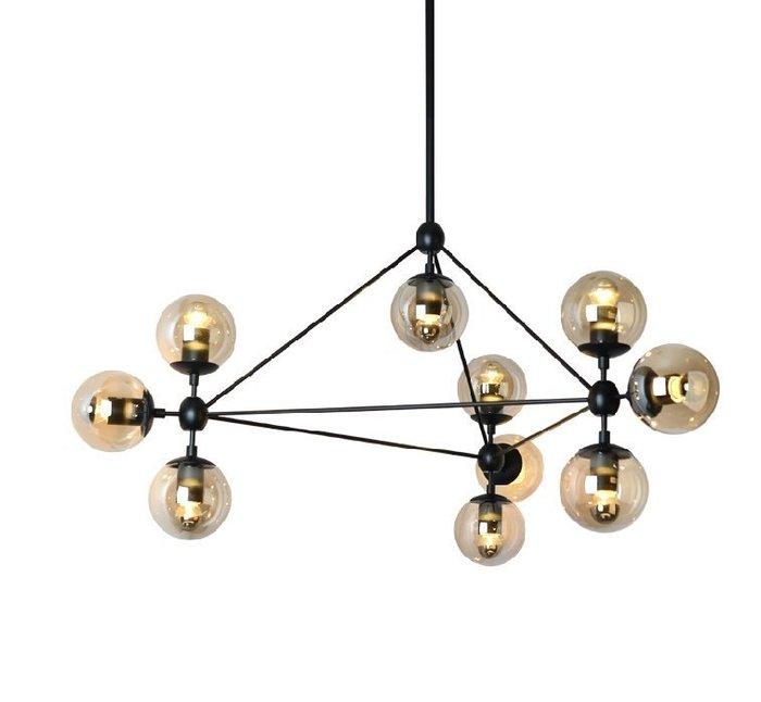 modo燈 魔豆燈 工業風 黑鐡烤漆 設計師款  吊燈  十燈 茶色玻璃罩  現貨