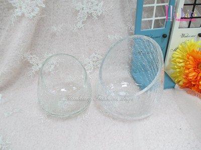 ☆[Hankaro]☆創意流行斜口裂紋玻璃花瓶(樣品出清)