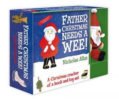 【精裝書+玩偶】FATHER CHRISTMAS NEEDS A WEE! /BOOK & TOY SET 禮盒書