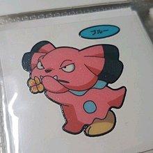 Pokemon 日本第一包特典 收藏貼紙 - 布魯(第105彈)