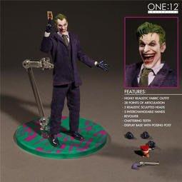 【紫色風鈴3.3】動漫小丑Joker 蝙蝠俠反派漫畫版6寸布衣可動 港版
