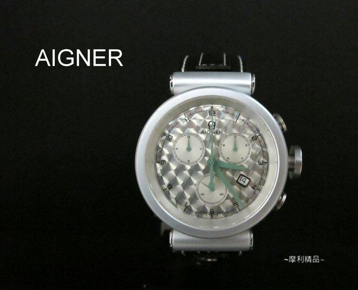 【摩利精品】AIGNER愛格納鋁合金計時錶*真品* 低價特賣