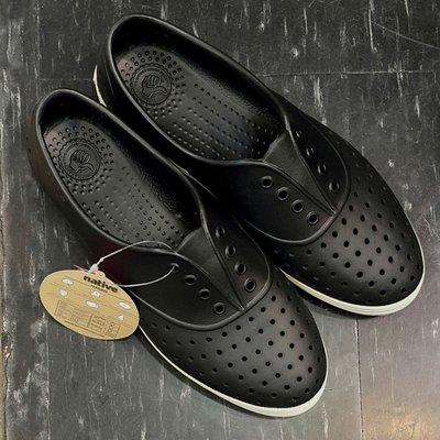 native JERICHO JIFFY BLACK 洞洞鞋 懶人鞋 膠鞋 黑色 米白色 尖頭 基本款