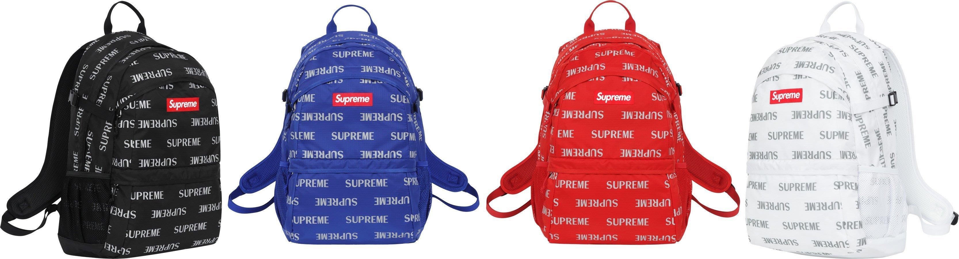 全新商品 Supreme 41th 41代 Reflective Repeat Backpack 潮流 後背包 背包