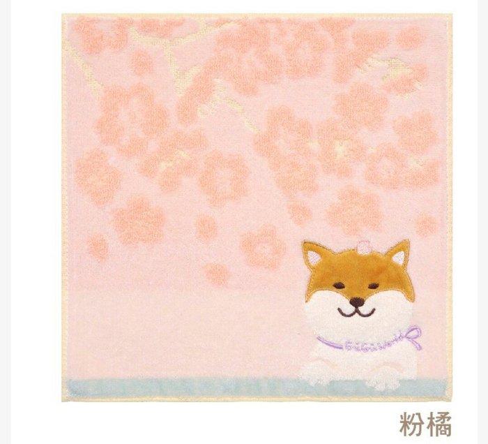 天使熊雜貨小鋪~日本帶回GuGu world 柴犬方巾 毛巾  棉100% 現貨2款  全新現貨