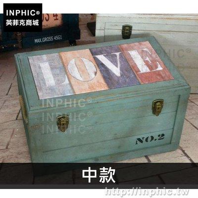 INPHIC-復古換鞋凳茶几裝飾擺設創意美式實木家居專賣店收納凳-中款_bARX