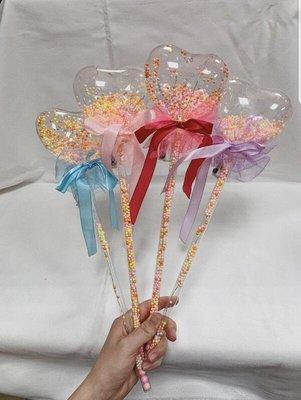 【宜大】LED告白汽球棒 婚禮晚會節慶活動汽球棒 心型蝴蝶結/圓型花朵