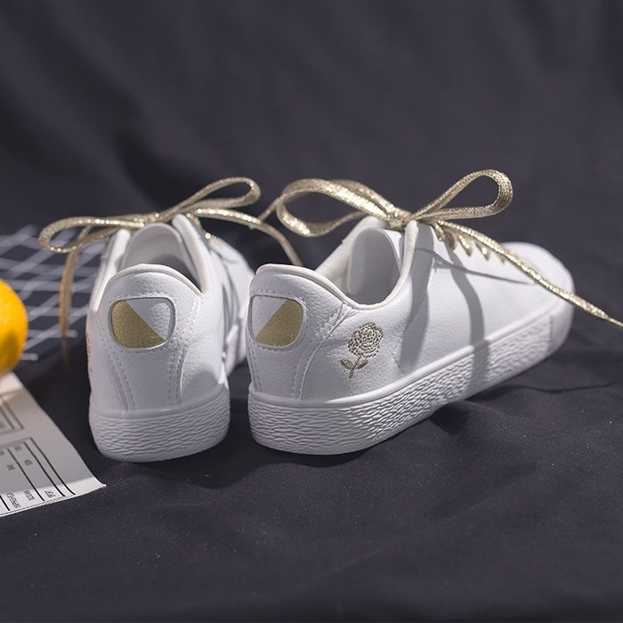 平底鞋 休閒鞋 小白鞋 正韓 潮流 學院風 鮀品溫柔仙女小白鞋女百搭韓版ins港風板鞋街拍超火女鞋