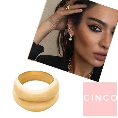 CINCO 葡萄牙精品 Lang rings 24K金雙層圓形寬版戒指 Debora Rosa聯名