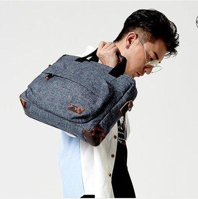 【時尚包坊】LINSHI TASKS新款牛津布電腦包男女手提時尚帆布韓版單肩包背包