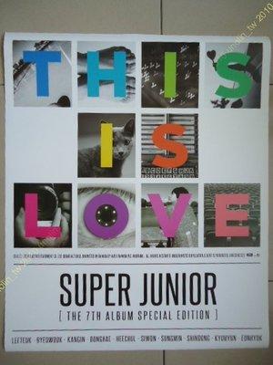 海報滿3張免運~SUPER JUNIOR【THIS IS LOVE MAMACITA】專輯特別版宣傳+預購DM全新免競標