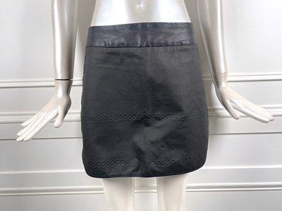 [我是寶琪] STAY WITH 黑色拼接短裙