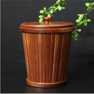 花梨木茶水桶垃圾桶茶渣桶茶盤排水桶功夫茶具茶道配件木茶桶木桶