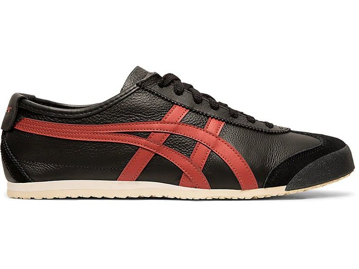 沃皮斯§ASICS Onitsuka Tiger MEXICO 66 黑紅 復古休閒鞋 1183A201-002