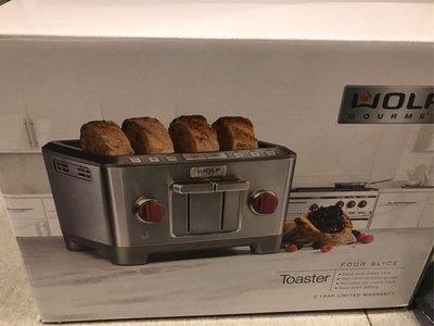 Wolf gourmet toaster WGTR114S       4 slice toaster