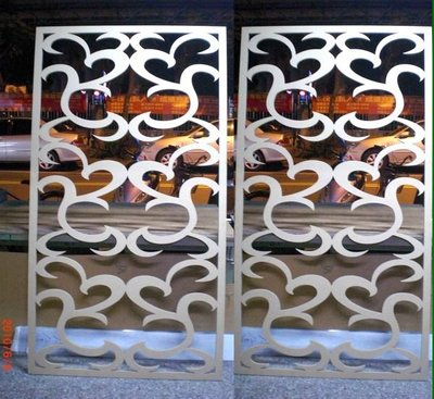 *Butterfly*木板,密集板鏤空切割*屏風*窗花*櫥窗門片*木板切割,壓克力切割專幫設計公司及同行代工B03